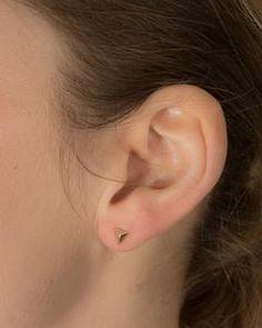 Filgree Open Circle Stud Earring in gold-plated sterling silver. Double Earrings, Diamond Earrings, Stud Earrings, Geometric Jewelry, Ear Studs, Star Shape, Rose Gold Plates, Sterling Silver, Jewellery