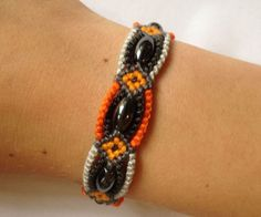 The technique which was used to make this bracelet can be used to make a ton of different bracelets. You can experiment with pattern, colour and beads. For this bracelet I used quite heavy iron beads but a pearl would work just as good.
