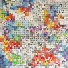 "Saatchi Online Artist: Paola Bazz; Paper, 2013, Assemblage / Collage ""1156 colors"""