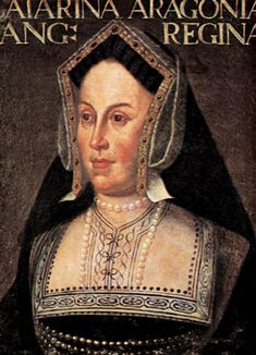 Portrait of Katherine of Aragon by an unknown artist, located in the Uffizi Gallery of Florence.