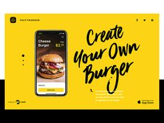 Fresh and tasty interactive design case study is up. Check all the details about mobile user interface created for Tasty Burger app. Design Web, App Ui Design, Design Case, Interface Design, Design Trends, Design Layouts, Menu Design, Flat Design, User Interface