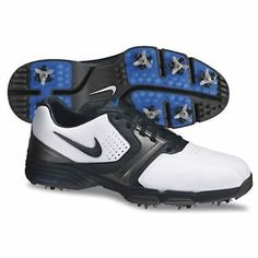 Nike Golf Lunar Saddle Golf Shoes 2013 - White/Black/Metallic Dark Grey/Photo Blue