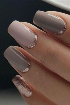 Classy but unique wedding manicure rose gold gel nail art design for the bride o. Classy but unique wedding manicure rose gold gel nail art design for the bride or bridesmaids Neutral Wedding Nails, Wedding Manicure, Wedding Nails Design, Neutral Nails, Nail Wedding, Neutral Colors, Wedding Gold, Wedding Makeup, Wedding Art
