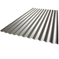 Fielders 1.8m Corrugated Zinc Steel Roofing - $24 at Bunnings for kitchen splashback and bathroom.