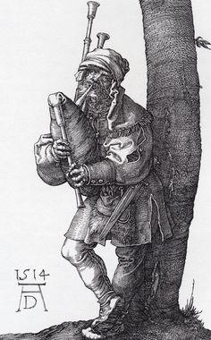Albrecht Dürer - The Bagpiper