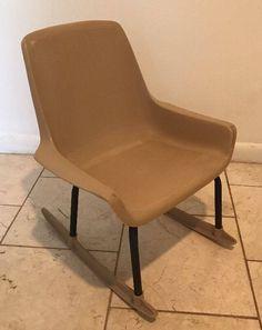Vintage Mid Century Modern Child's Rocking Chair Shamrock Neatway Eames Era by AntiquesviaAyala on Etsy