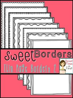 Thin Page Border SET TWO! Perfect for printables!