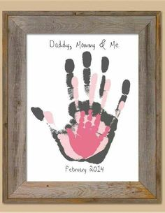 Family Hand Print Overlay Memory Piece