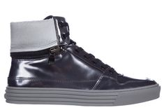 HOGAN REBEL MEN'S SHOES HIGH TOP LEATHER TRAINERS SNEAKERS. #hoganrebel #shoes #