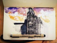 Quick architectural sketch.