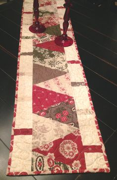 Christmas Table Runner French Generals Fa la by CottageChicQuilts