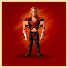 StarKade: Series 2 by James White, via Behance Wrestling Superstars, Wrestling Wwe, Wwe Shawn Michaels, Wwe Logo, Wwf Hasbro, Best Wrestlers, Wwe Action Figures, James White, Cycling Art