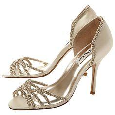 Buy Dune Haute Diamanté Embellished Satin Stiletto Sandals Online at johnlewis.com