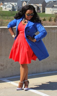 Bright, Bold color combo! Cobalt Blue, Blood Orange, oh my!