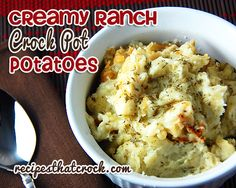 These Creamy Ranch Crock Pot Potatoes are flavorful, easy to make & perfect for an everyday meal or holiday feast! Delicious!