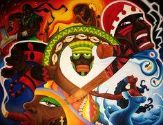 "the-torch-bearer: "" Afro-Bazilian depiction of The Orishas """