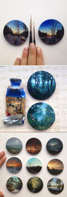 Miniature Landscape Paintings by Dina Brodsky