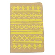 Kraft paper coloured pocket moleskine cahier printed with an original Finest Imaginary design. You can choose between plain or lined paper, just make a note upon checkout. This particular moleskine features a pattern design hand screen-printed with yel. Moleskine Notebook, Yellow Pattern, How To Make Notes, Kraft Paper, Navajo, Screen Printing, Pattern Design, Handmade Items, Kids Rugs