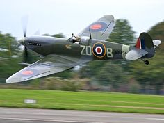 Spitfire low fly by