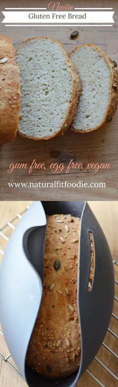 Easy Newbie Gluten Free Bread – www.naturalfitfoo… This is hands down the easiest and best gluten free bread you will ever make! If you're new to gluten free bread making this is the recipe for you. Patisserie Sans Gluten, Dessert Sans Gluten, Gluten Free Desserts, Dairy Free Recipes, Best Gluten Free Bread, Gluten Free Cooking, Egg Free Bread Recipe, How To Make Bread, Bread Making