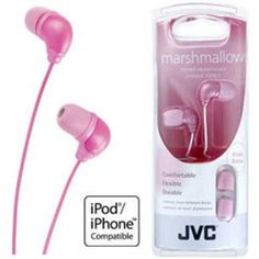 JVC HA-FX34-PE - In Ear Marshmallow Headphones - Pink has been published to http://www.discounted-tv-video-accessories.co.uk/jvc-ha-fx34-pe-in-ear-marshmallow-headphones-pink/