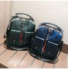 1eccec6d947d US $20.74 42% OFF|Aliexpress.com : Buy Retro Leather Women Backpack Zipper  School Backpacks For Teenage Girls Bag Large Capacity Multifunction Mochila  ...