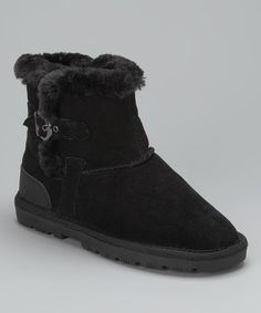 Take a look at this Black Sporty Boot - Women by LAMO on #zulily today!
