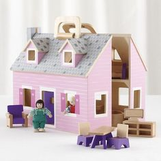 Fold and Go Dollhouse in All Toys | The Land of Nod