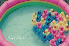 Carnival Party: love this theme for a summer birthday! You could do the duck pond and ball toss for kids at any outdoor party you have.