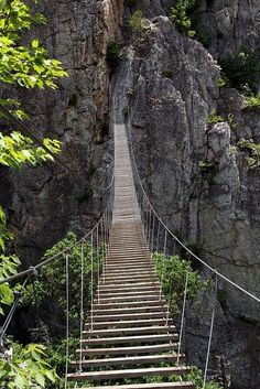 Skykishrain -  he Via Ferrata, Nelson Rocks, WV....my stomach is dropping just thinking about this!!!!