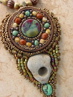 Holey Stone Necklace by HeidiKummliDesigns on Etsy, $145.00