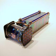 Gemstone Kaleidoscope - Sapphire -- Fusion Art Glass Online Store