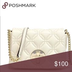 """Kate Spade Astor Court Naomi Astor Court Naomi Cross body. Brand: Kate Spade. Color: Bone. Dimensions: 5.3""""h x 7.9""""w x 1.5""""d. Strap length: 46.1"""". Material: quilted leather with 14-karat light gold plated hardware. kate spade Bags Crossbody Bags"""