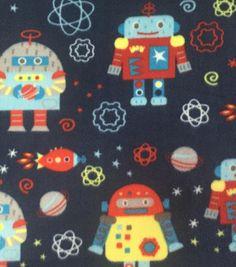 Anti-Pill Fleece Fabric-Space Robots