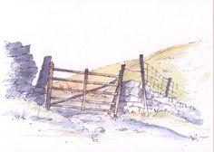 Yorkshire Dales gateway ~ sketch