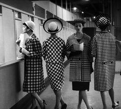 Checks, please! :) #vintage #1950s #1958 #fashion #coat #hat