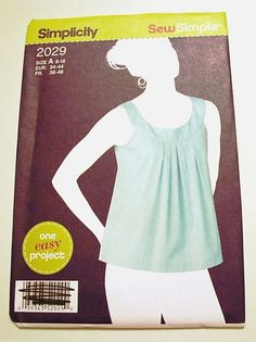 Simplicity 2029  Misses Pullover Top by SewWhateverAndGifts