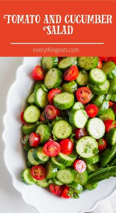 Tomato Cucumber Salad  |  Side Dish  |  Healthy  |  Recipe