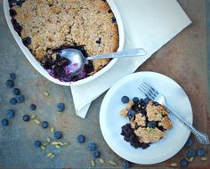 Blueberry Cardamom Cobbler | Vegan and gluten free