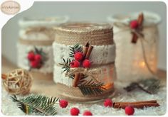 Handmade decor for home Magical Christmas, Christmas Candles, Rustic Christmas, All Things Christmas, Kids Christmas, Christmas Wreaths, Christmas Crafts, Christmas Decorations, Christmas Ornaments