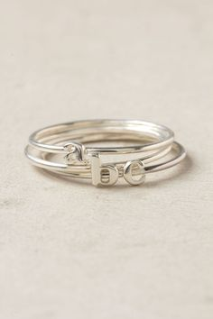 Anthropologie Wee Initial Ring
