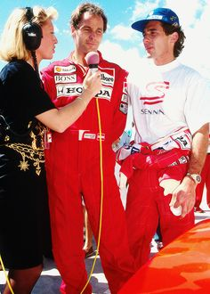 Gerhard Berger and Ayrton Senna. Prost made him competitive, Berger kept him focused and sane.