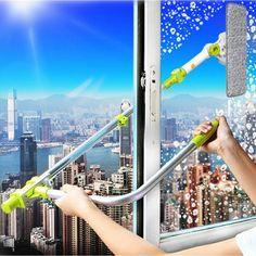 Self-Wringing Double Sided Flat Windows Mop