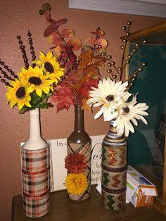 My fall bottle decor