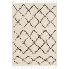 Surya Berber Shag Beige Indoor Moroccan Area Rug (Common: 10 x Actual: W x L) at Lowe's. Our rugs from the Berber Shag Collection feature striking global inspired designs that endure at the forefront of contemporary trends. Moroccan Pattern, Bohemian Pattern, Moroccan Area Rug, Berber, Thing 1, Tribal Patterns, Grey And Beige, Gray, Cross Designs