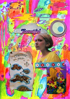 Doing It Differently: Tavi Gevinson and Minna Gilligan in Conversation Hippie Art, Arte Pop, Graphic Design Posters, Aesthetic Pictures, Wall Collage, Art Inspo, Indie, Cool Art, Illustration Art