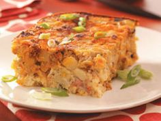 Different spicier breakfast casserole.  The chorizo makes it great. This is made the night before so you are not so busy in the morning!