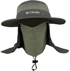 Wide Brim Fishing Hat with Rear and Face Veil Army Green, Green And Grey, Jungle Hat, Face Veil, Sun Protection Hat, Fish Camp, Visors, Caps Hats, Baseball Cap