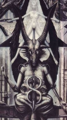 Pagan Esoterica: The Ram, Ovaries, Divine Feminine, Baphomet and Goddess Movements – All Truth Exposed Baphomet, Tarot, Arte Horror, Horror Art, Dark Art Illustrations, Illustration Art, Lila Baby, Giger Art, Dark Souls Art