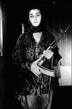 abustaif:  Asya, a Chechen rebel.  Itum-Kale, Tchétchénie, décembre 1996 - by Stanley Greene  (posted 10/8/12)